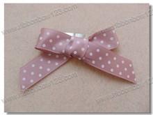 Children hairclips ribbon bow dots