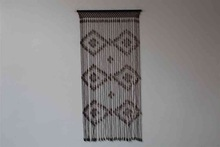 New Fashion Christmas Designs Wood Bead Curtain rubber magnetic door curtain