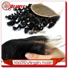 Beamys hair wholesale virgin hair cheap lace closure bleached knots