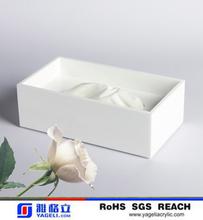 Acrylic Tissue Box Cover Celebrity New York NY Clear Acrylic Starburst Sunray Vintage