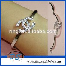 new fashion Crystal CC Bangle bracelet for Sweet Ladies