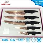 Rose titanium kitchen knife set and color knife