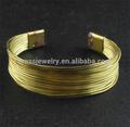 ouro chapeado ajustável de arame de bronze projeto o mais atrasado pulseira e bracelete