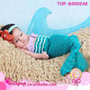 Hot sale! The Little Mermaid sky blue hand crochet baby sleeping bag