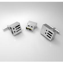 USB Memory Stick Stainless Steel Cufflinks