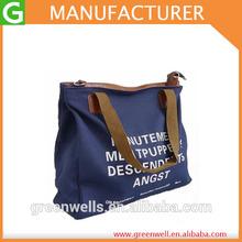 Women Fashion Big Canvas Cross Body Tote Beach Bag With Print/Shoulder Handbag