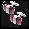 Fashion Stainless Steel Structure Precious Stone Cufflinks