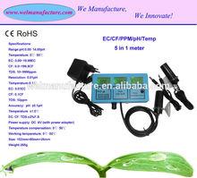 5 in 1 EC/CF/TDS/pH/Temp meter