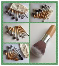 11pcs bamboo make up cosmetic brushes,good quality bamboo makeup