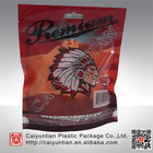 Gravure printing Plastic stand up Tobacco Pipe packaging,stand up pouch with euro hole