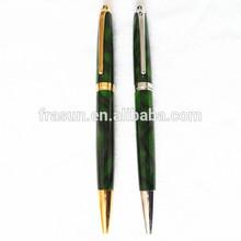 Fancy Green Barrel Imprint Logo Metal Promotion Ballpoint Pen