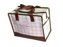high quality carton nonwoven shopping bag with zipper