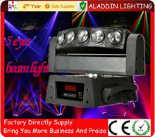HOT sale !!!! 5 eyes cree rgbw 4in1 dmx beam linear moving head stage dj light