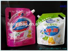 Custom design high barrier handle packaging pouch washing powder bags plastic