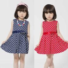 New Spring Lovely Girls Kids Dress Tutu Dresses Dancing Party Spot Polka Dot