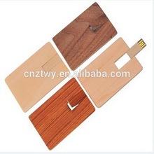 Wholesale wooden credit card usb 12gb,custom logo wooden card usb flash drive