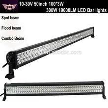 Super Brightness 10-30V 300W 19000LM LED Bar lightings for 4 X 4,ATV, SUV, UTV, truck,Fork lift,train,boat, bus, and tanks