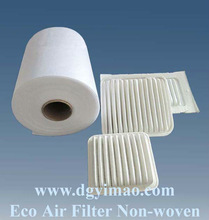 high quality 100% polyester cabin air filter material/ filter media