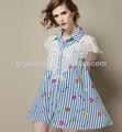 las niñas dama elegante blusas en los modelos de cordón atado blusas de chevron