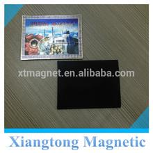 Personalized Tourist Souvenir Silver Foil Paper Fridge Magnet with Custom Design and Logo