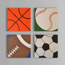 2014 World Cup-Football Games Oil Painting-4 Piece Painting