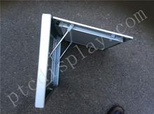 De aluminio de plata de la foto marco rápido