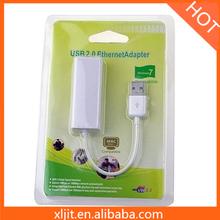 USB 2.0 100Mbps Lan RJ45 Network Adapter For Windows 7 Vista 32