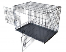 Factory Dog Cage,Foldable Dog Cage,Dog Crate two doors