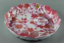 Popular Design Melamine Plastic Fruit Dish,Round Plate