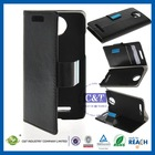 Small MOQ customize order leather flip case cover for htc one s