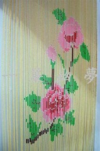wooden curtain door beads painted string bambo door curtain with beads