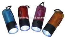 Pet degradable bag dispenser with LED light/dispenser refills with tie handle/cylinder shape waste bag case holder