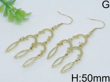 China supplier whosale silver earring rain drop shape