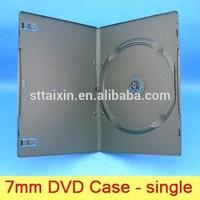 7mm single/double PP black acrylic dvd box