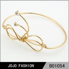 bowknot oro bracciali 14k gioielli bracciale in oro progettazione per le ragazze
