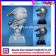 resina del motociclo casco premio trofeo figurine