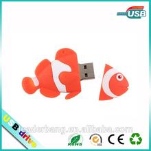 Colorful Mini fish shape usb flash drive factory Promotion