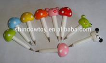 small mushroom wooden cartoon ballpoint pens