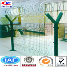 y-type fence with razor barbed wire on top/security fence for airport(manufacturer and exporter)