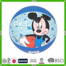 China custom size 3 rubber basketball with customized logo