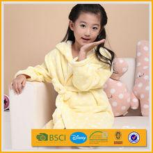 cheap cute super warm sexy bright pink colored little girl hooded zipper bathrobe