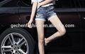 Mode femme 2014 cotton+spandex denim pantalons en jean courte