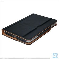 High quality Stand Case For iPad Air leather wallet Case P-IPD5CASE016