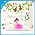 mono zooyoo de uva pvc adhesivo removible de arte decorativo de la pared calcomanías para el hogar decoración de la pared de la pared pegatinas lindo diseños infantiles