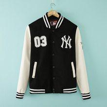 Winter Chaqueta Varsity Men's Leather Sleeve Bomber Baseball Jacket