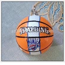 basketball keychain, Custom made 3D PVC basketball keychain / custom NBA keychain by soft PVC