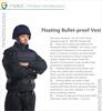Coast Guard Flotation Bulletproof Vest/Flotation Ballistic Vest/Black UHMWPE Fiber Bulletproof Vest/4.8KG bullet proof vest