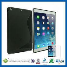 Customized Designs tpu transparent thin cover cases for ipad mini