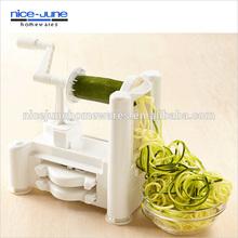 Best Quality As seen on TV Plastic Tri-Blade Spiral Vegetable Slicer