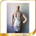 Hot vente 2014 bandage à manches longues robe sexy robe licou motif.